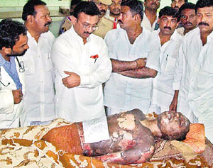 Central minister condolences to Chandra Sekhar